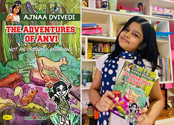 9 years old Ajnaa Dvivedi launched her book today – The Adventures of Anvi